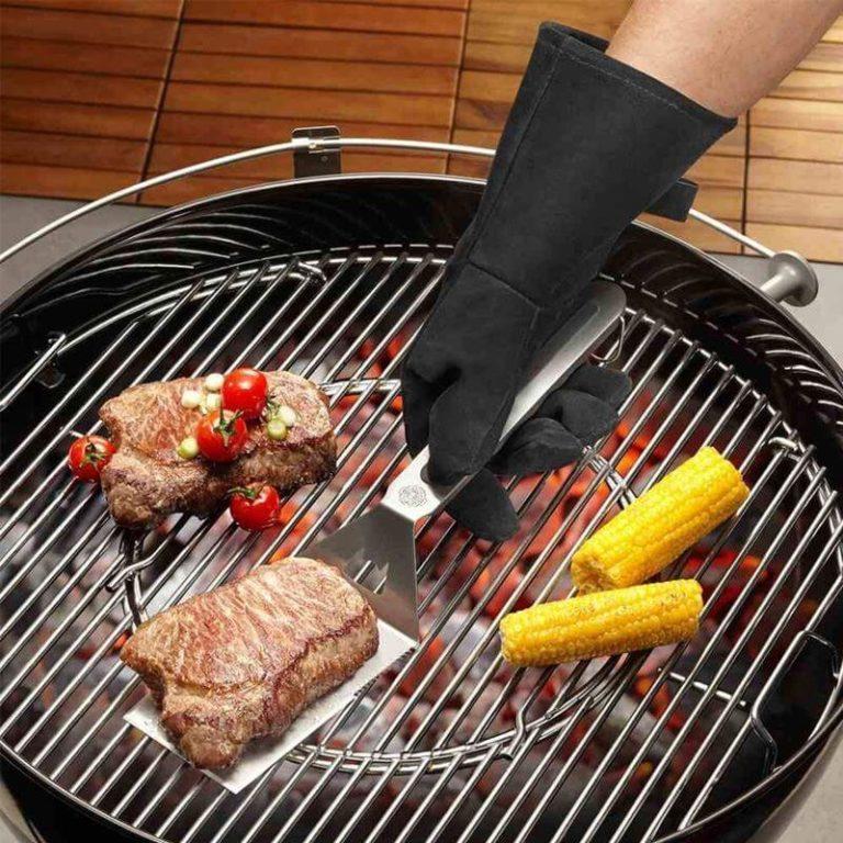 CRXOOX Guantes de Cocina,Guante de Horno Tostador,Guante para BBQ Resistentes al Calor 500 /°C,Antideslizante con Silicona